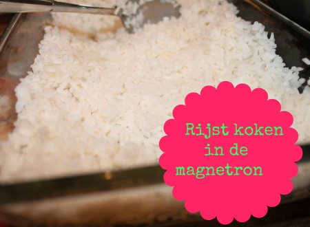 Rijst koken in de magnetron