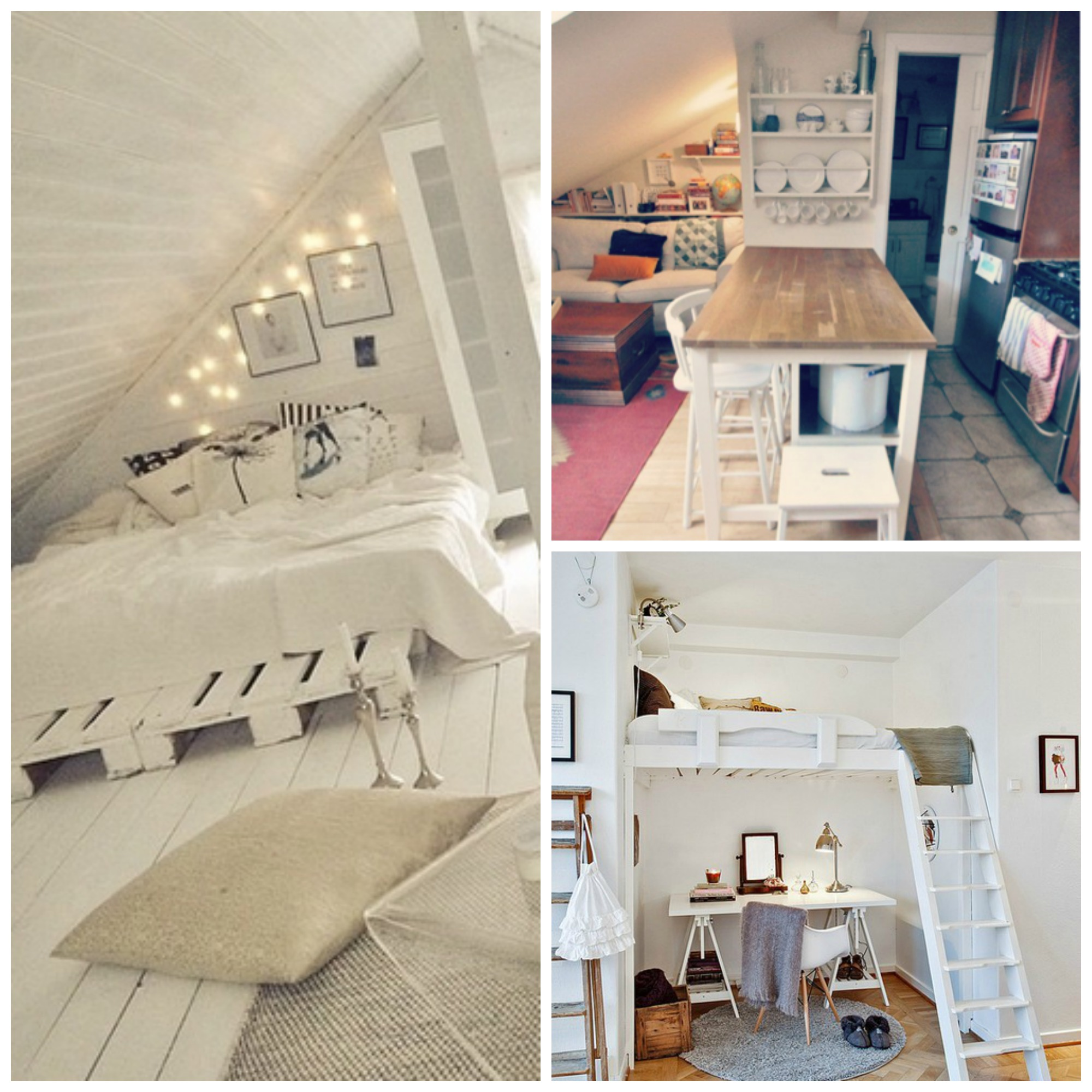 Kelly Caresse   Interieur inspiratie  Heel klein luxe wonen op een zolder!