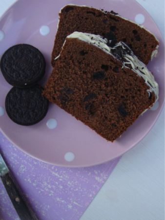 cake met stukjes chocola