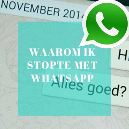 stoppen met Whatsapp