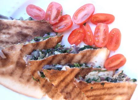 Recept: Quesadilla met spinazie en geitenkaas