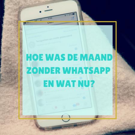 maand zonder WhatsApp