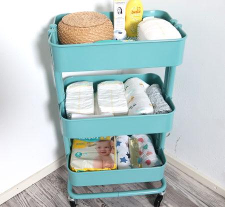 Diy luiertrolley voor de babykamer - Cosas de ikea ...