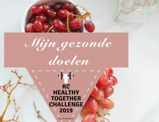 Mijn doelen voor de KC Healthy Together challenge, KC Healthy Together challenge, e-book gezond eten, Kelly Caresse