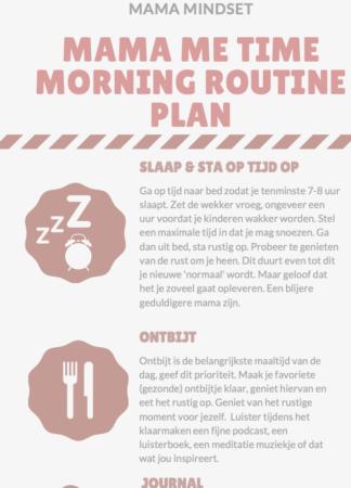 Mijn mama morning routine